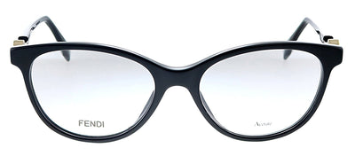Fendi FF 0347 807 Oval Plastic Black Eyeglasses with Demo Lens