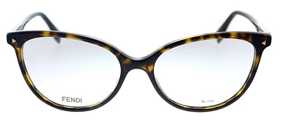 Fendi FF 0351 086 Cat-Eye Plastic Havana Eyeglasses with Demo Lens
