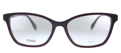 Fendi F is Fendi FF 0363/F LHF Rectangle Plastic Opal Burgundy Eyeglasses with Demo Lens