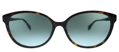 Fendi F is Fendi FF 0373/S 086 Cat-Eye Plastic Dark Havana Sunglasses with Green Gradient Lens