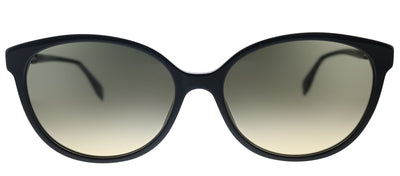 Fendi F is Fendi FF 0373/S 807 Cat-Eye Plastic Black Sunglasses with Brown Gradient Lens