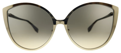 Fendi F is Fendi FF 0395/F/S J5G Cat-Eye Metal Gold Sunglasses with Brown Gradient Lens