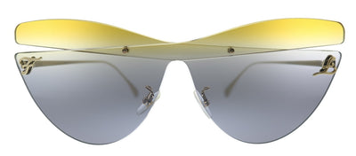 Fendi Karligraphy FF 0400/S XYO Cat-Eye Plastic Gray Honsh Sunglasses with Grey Gradient Lens