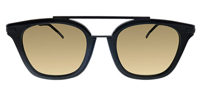 Fendi FF 224/F/S 807 Square Plastic Black Sunglasses with Brown Lens