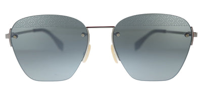 Fendi Men F is Fendi FF M0057/S 010 Square Metal Palladium Sunglasses with Silver Mirror Lens