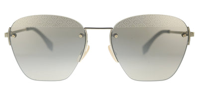 Fendi Men F is Fendi FF M0057/S J5G Square Metal Gold Sunglasses with Gold Mirror Lens