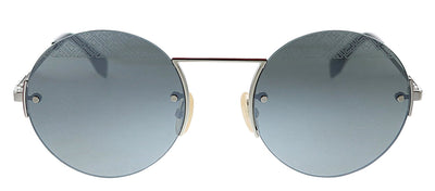Fendi FF M0058/S 101 T4 Oval Metal Silver Sunglasses with Silver Mirror Lens