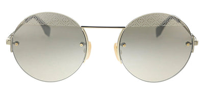 Fendi FF M0058/S J5G VP Oval Metal Gold Sunglasses with Gold Mirror Lens