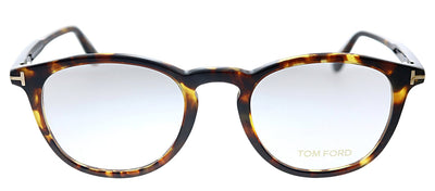 Tom Ford FT 5401 52A Oval Plastic Tortoise Eyeglasses with Demo Lens