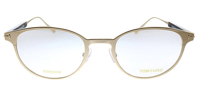 Tom Ford FT 5482 028 Oval Metal Silver Eyeglasses with Demo Lens