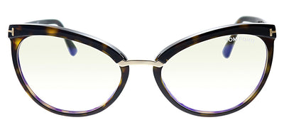 Tom Ford FT 5551B 052 Cat-Eye Plastic Havana Eyeglasses with Havana Plastic Frame And Temple