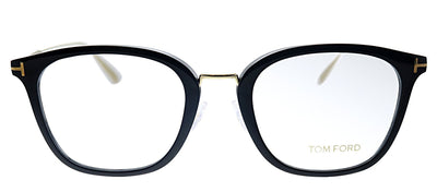 Tom Ford FT 5570K 001 Square Plastic Black Eyeglasses with Demo Lens