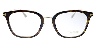Tom Ford FT 5570K 052 Square Plastic Havana Eyeglasses with Demo Lens