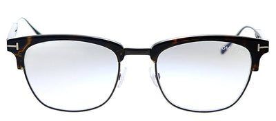 Tom Ford FT 5590B 052 Rectangle Metal Havana Eyeglasses with Havana Metal Frame And Temple