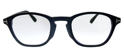 Tom Ford FT 5591-D-B 002 Square Plastic Matte Black Eyeglasses with Blue Block Lens