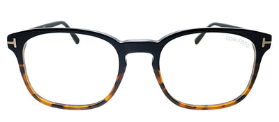 Tom Ford Blue Block FT 5605-B 005 Square Plastic Black Eyeglasses with Demo Lens