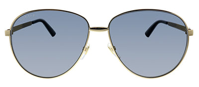 Gucci GG 0138S 006 Pilot Metal Gold Sunglasses with Grey Polarized Lens