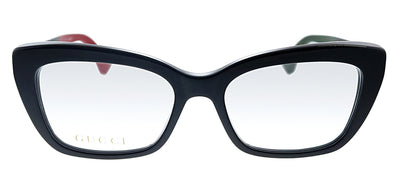 Gucci GG 0165O 003 Cat-Eye Plastic Black Eyeglasses with Demo Lens