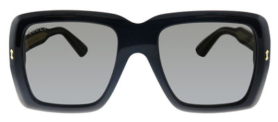 Gucci GG 0366S 002 Square Plastic Black Sunglasses with Grey Lens