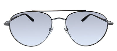 Gucci GG 0388S 009 Pilot Metal Ruthenium Sunglasses with Grey Polarized Lens