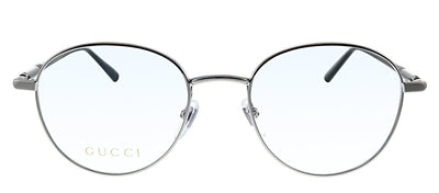 Gucci GG 0392O 001 Oval Metal Ruthenium Eyeglasses with Demo Lens