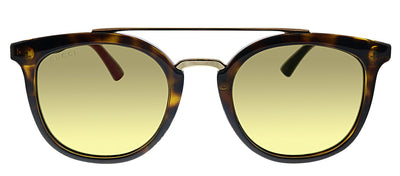 Gucci GG 0403S 003 Geometric Plastic Havana Sunglasses with Brown Lens