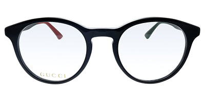 Gucci GG 0406O 003 Round Plastic Black Eyeglasses with Demo Lens