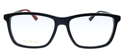 Gucci GG 0407O 003 Rectangle Plastic Black Eyeglasses with Demo Lens