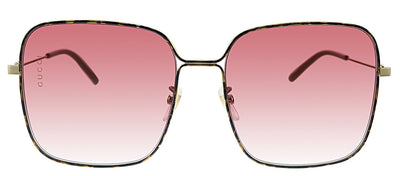 Gucci GG 0443S 003 Pilot Metal Tortoise Sunglasses with Purple Gradient Lens