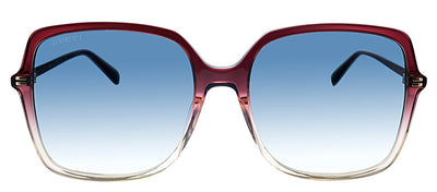 Gucci GG 0544S 005 Butterfly Plastic Red Sunglasses with Blue Polarized Lens
