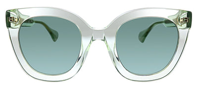 Gucci GG 0564S 004 Cat-Eye Plastic Green Sunglasses with Green Lens