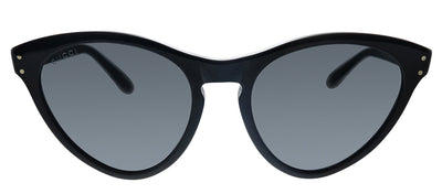 Gucci GG 0569S 001 Cat-Eye Plastic Black Sunglasses with Grey Lens