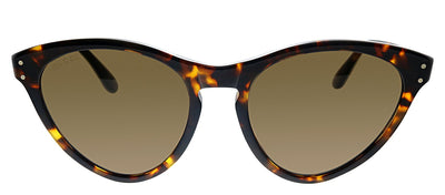 Gucci GG 0569S 002 Cat-Eye Plastic Havana Sunglasses with Brown Lens