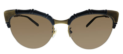 Gucci GG 0661S 001 Cat-Eye Plastic Black Sunglasses with Brown Lens