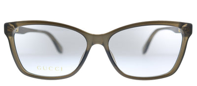 Gucci GG 0792O 005 Rectangle Plastic Brown Eyeglasses with Demo Lens