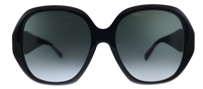 Gucci GG 0796S 001 Geometric Plastic Black Sunglasses with Grey Gradient Lens
