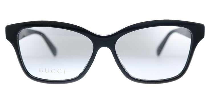 Gucci GG 0801OA 001 Rectangle Plastic Black Eyeglasses with Demo Lens
