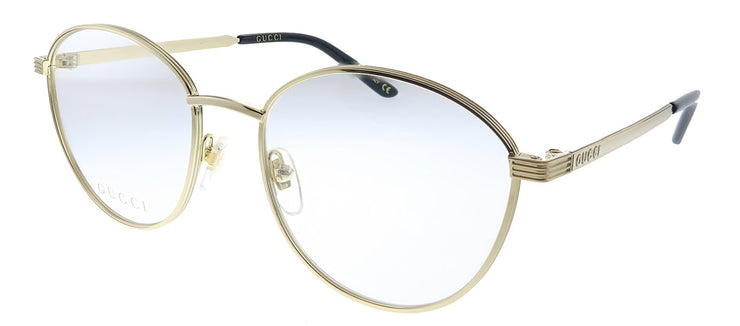 Gucci GG 0806O 004 Round Metal Gold Eyeglasses with Demo Lens