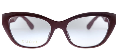 Gucci GG 0813O 003 Cat-Eye Plastic Burgundy Eyeglasses with Demo Lens