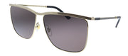 Gucci GG 0821S 001 Square Metal Gold Sunglasses with Grey Lens