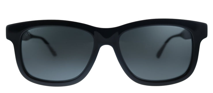 Gucci GG 0824S 005 Rectangle Plastic Black Sunglasses with Grey Lens