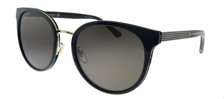 Gucci GG 0850SK 001 Cat-Eye Plastic Black Sunglasses with Grey Lens