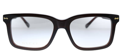 Gucci GG 0914O 003 Rectangle Plastic Brown Eyeglasses with Demo Lens