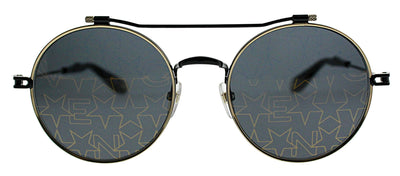 Givenchy GV 7079/S 2M2 Round Metal Black Sunglasses with Gold Décor Lens
