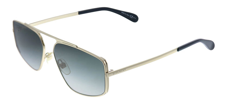 Givenchy GV 7127 J5G 9O Rectangle Metal Gold Sunglasses with Grey Gradient Lens