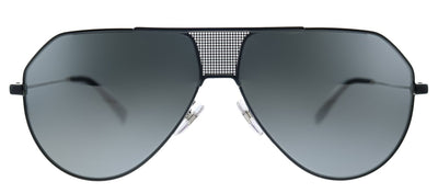 Givenchy GV 7137/S 284 T4 Aviator Metal Black Ruthenium Sunglasses with Silver Mirror Lens