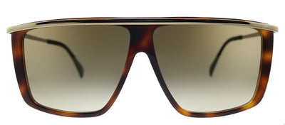 Givenchy GV 7146/G/S 2IK HA Rectangle Plastic Havana Gold Sunglasses with Brown Gradient Lens