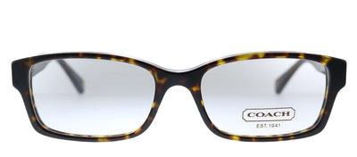 Coach Brooklyn HC 6040 5001 Rectangle Plastic Black Eyeglasses with Demo Lens