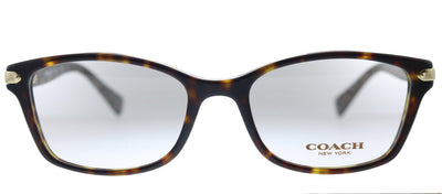 Coach HC 6065 5291 Rectangle Plastic Havana Eyeglasses with Demo Lens