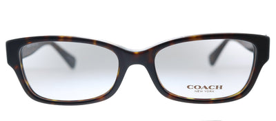 Coach HC 6078 5120 Rectangle Plastic Havana Eyeglasses with Demo Lens